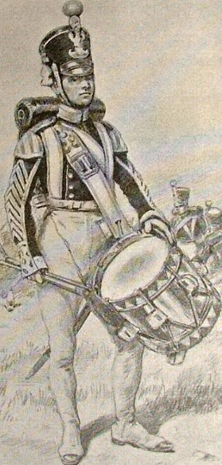 dobosz piechoty liniowej 1828-1830 w mundurze letnim/Drummer line infantry in summer uniform