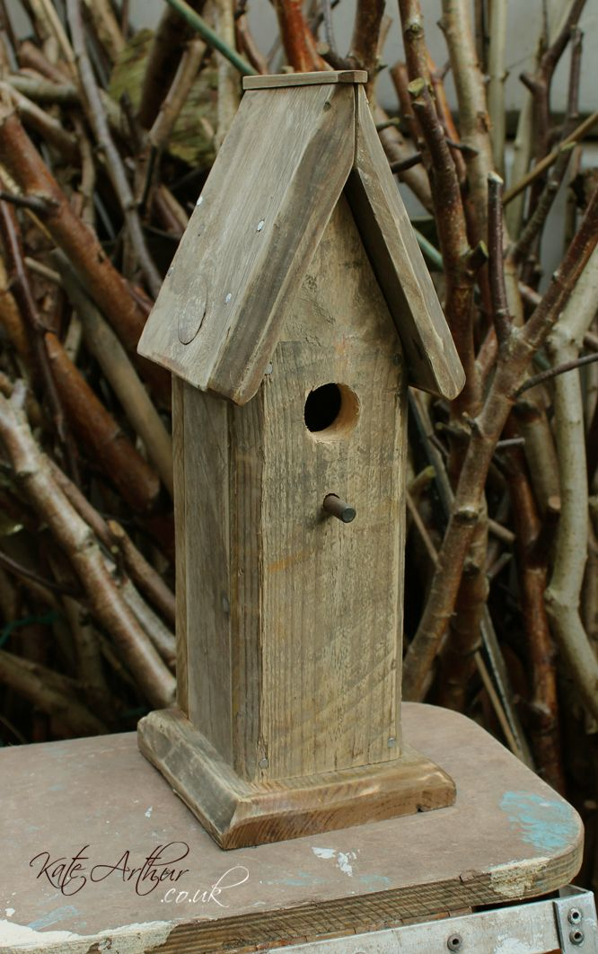 Rustic Bird House - Handmade from pallet wood.