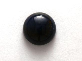 Кабошон Соколиный глаз круг (8*3 мм, 1 карат / 0,2 г) К409
