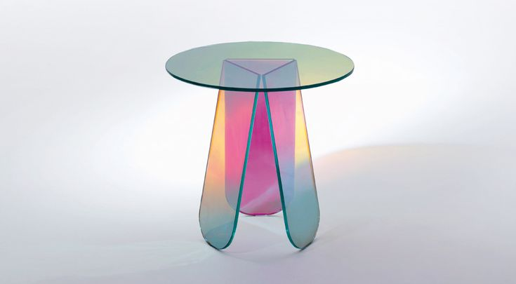 Shimmer Side Table - Iridescent Color Design By Patricia Urquiola
