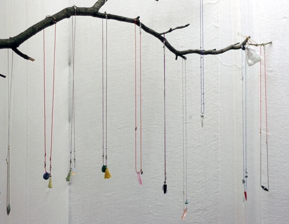 Decorating With Branches – How To Decorate With Branches   Free People Blog a branch DOES make the perfect hanger for necklaces!  @marie_matepi an alternative to the open frame jewellery display!