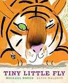"""A small, but smart animal tricks the larger, more vicious animal who wants to eat him.  Here, tiny little fly evades the elephant, the hippo, and the tiger.  Terrific artwork with a large fold out center page that drew """"oohs"""" and """"ahhs.""""   http://picturebooksforchildren.wordpress.com/2011/11/04/another-lucky-day/"""