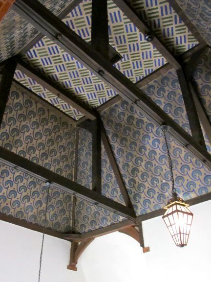 """Red House ceiling painted by William Morris & friends. via """"William Morris Fan Club"""" blog #William_Morris #Red_House #Arts_and_Crafts"""