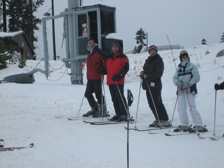 Skiing with the good friend Coach Todd Humphry at Sierra Tahoe in California