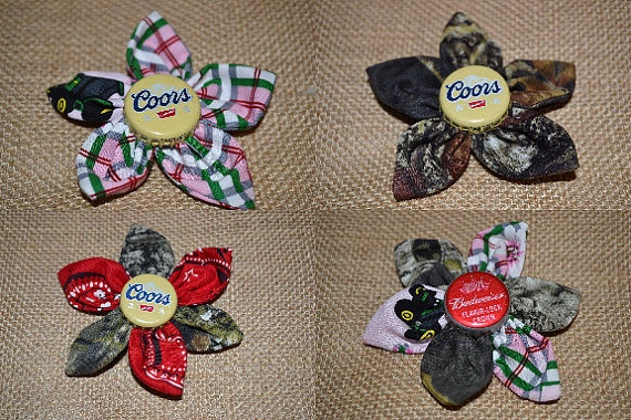 Beer cap flowers beer cap crafts pinterest for How to make bottle cap flowers