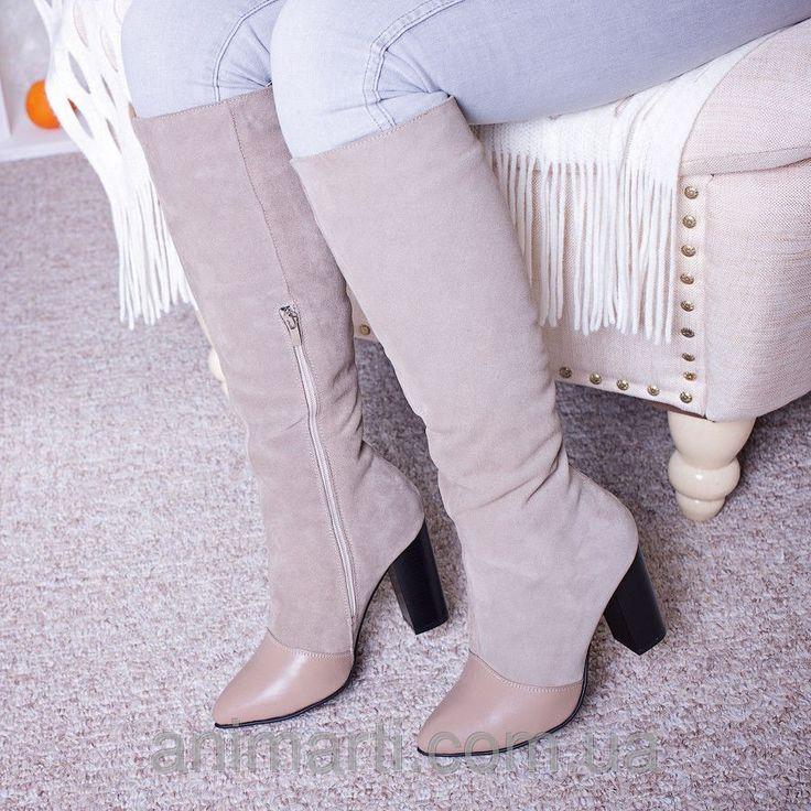 """Красивые кожаные сапоги: продажа, цена в Днепре. сапоги, полусапожки женские от """"Animarti - Интернет-магазин стильной женской обуви """" - 229860621"""