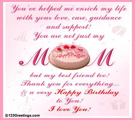 17 Best ideas about Birthday Greetings For Mom – Birthday Card Wishes for Mom