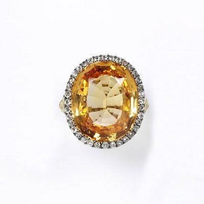 Stalking the Belle Époque: Mastery of Design: The Townshend Orange Sapphire