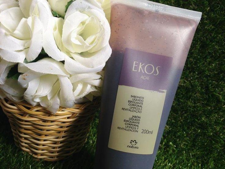 Resenha do Sabonete Líquido Esfoliante Corporal Açaí, Natura Ekos: absurdamente cheiroso, deixa a pele limpa, macia e suave ao toque!