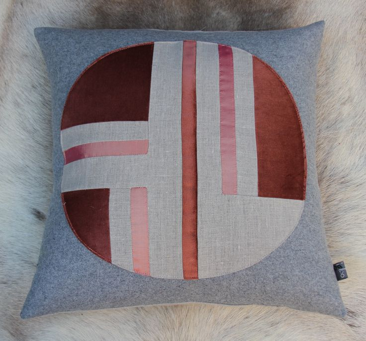 igloo's deco circle cushion design  European wool, linen and silk from India https://www.facebook.com/IglooHome