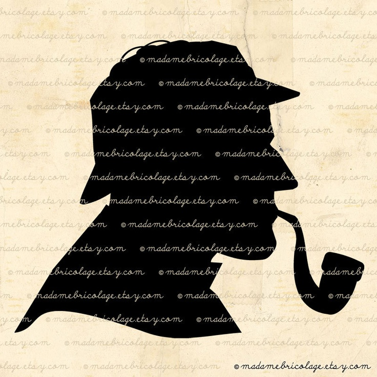 Detective Silhouette Digital Image Digital Download for Iron on Transfer, Papercrafts, Pillows, T-Shirts, Tote Bags, Burlap, No 01931. $1.00, via Etsy.