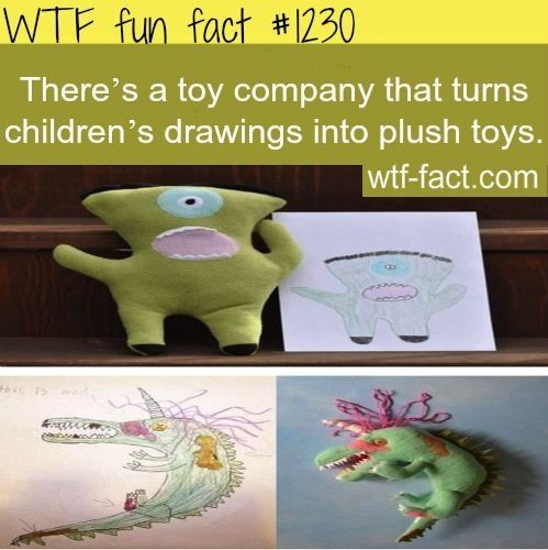 Children's drawings turned into toys.