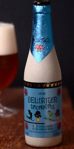Delirium Tremens by Brouwerij Huyghe (however you pronounce that). Had it on tap at The Porter in Atlanta. I love me some Belgian beer!