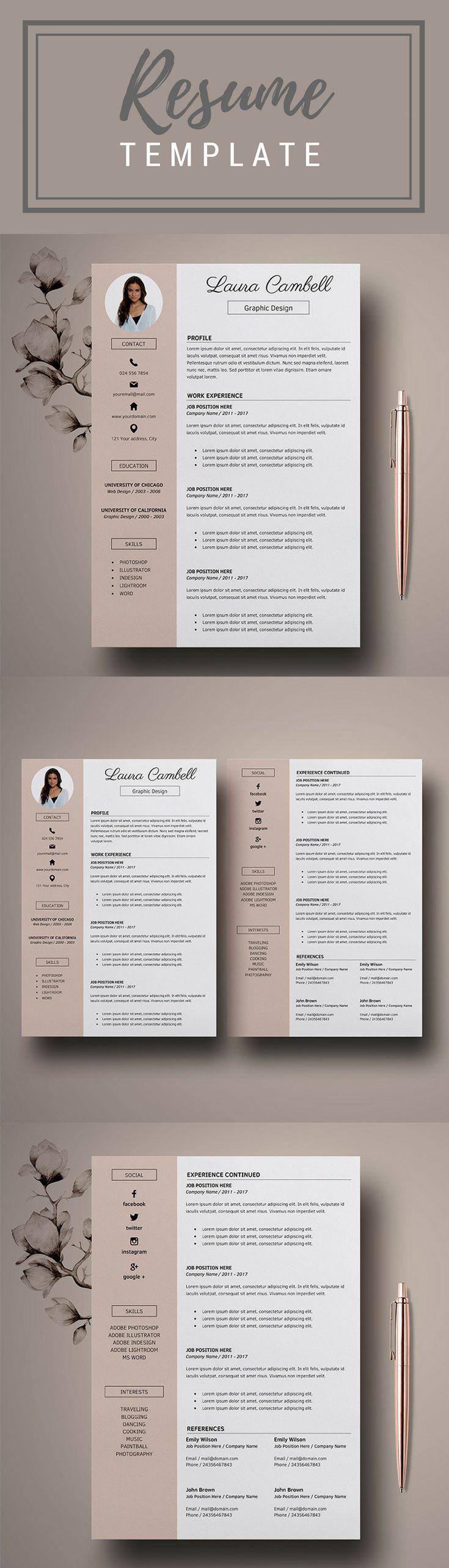 Modern Resume Template CV Template for