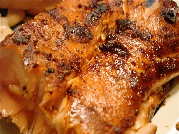 Dry Rub for Salmon.  Made this for my salmon addict father.  i love it. its spicy sweet and really compliments the fish's natural flavor