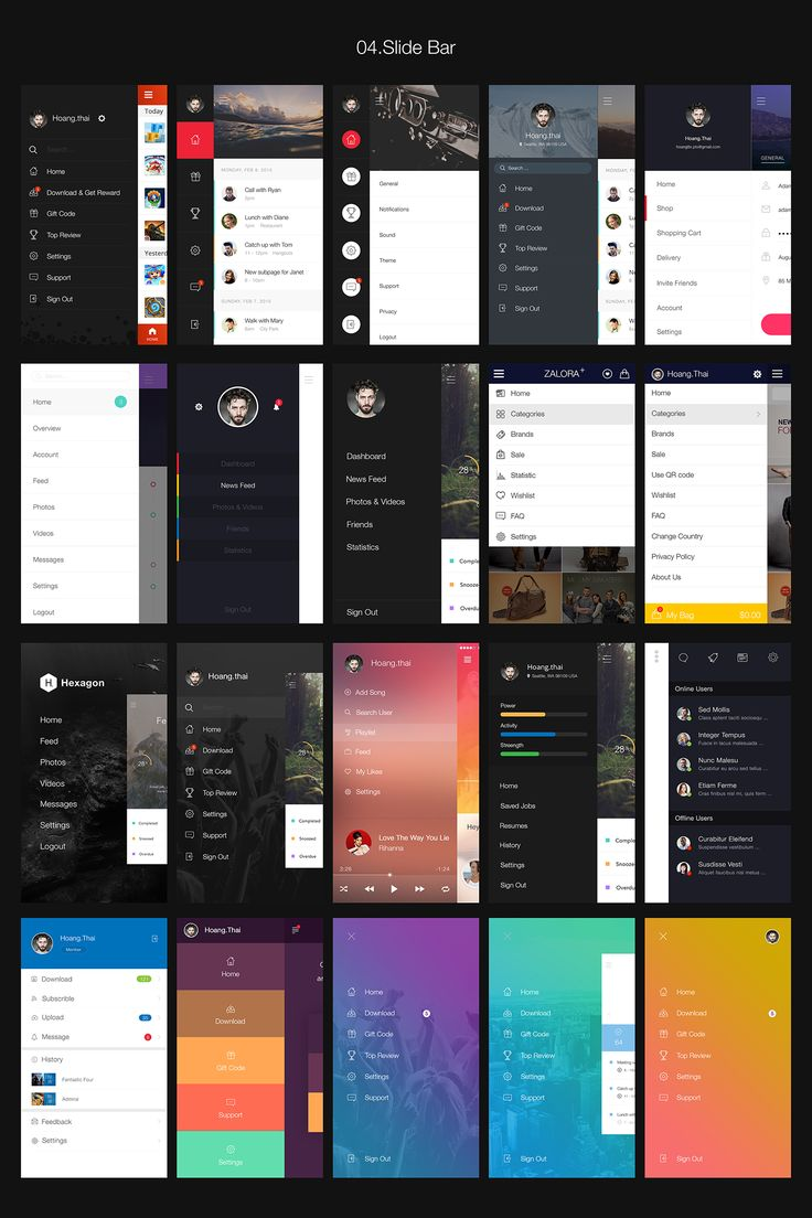 Hexagon iOS 8 Mobile UI Kit by Best UI on @creativemarket