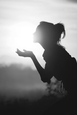 Kissing the sun light  | black and white photography