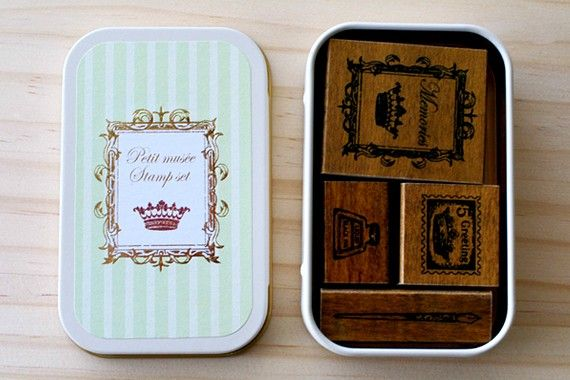 NEW  Wooden stamps in a can  Crown by karaku on Etsy (Craft Supplies & Tools, Scrapbooking Supplies, Stamps & Seals, Stamps, Individual Stamps, kawaii, can, stamp, stamps, wood, wooden, crown, pen, ink, stationery, zakka, set, Stamping)