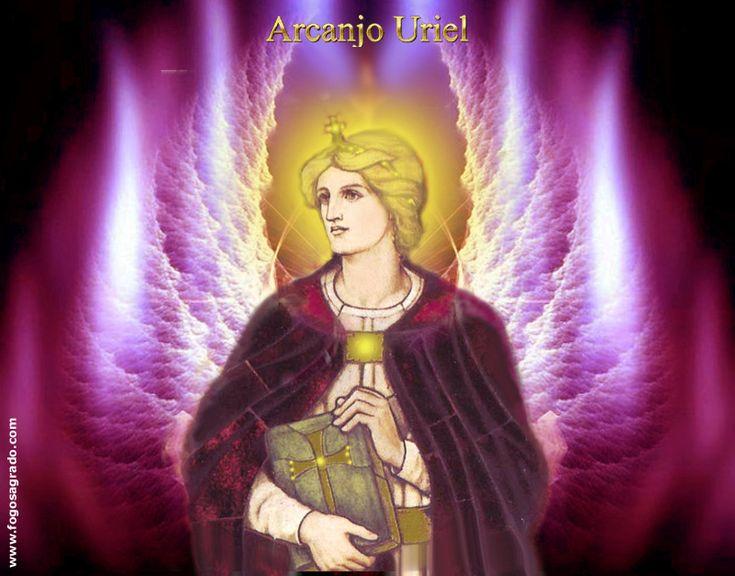 Resultado de imagem para Arcanjo Uriel e Aurora do Raio Rubi