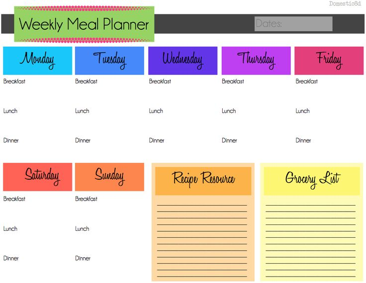 653 best images about meal prep planner templates on pinterest weekly meal plans menu. Black Bedroom Furniture Sets. Home Design Ideas