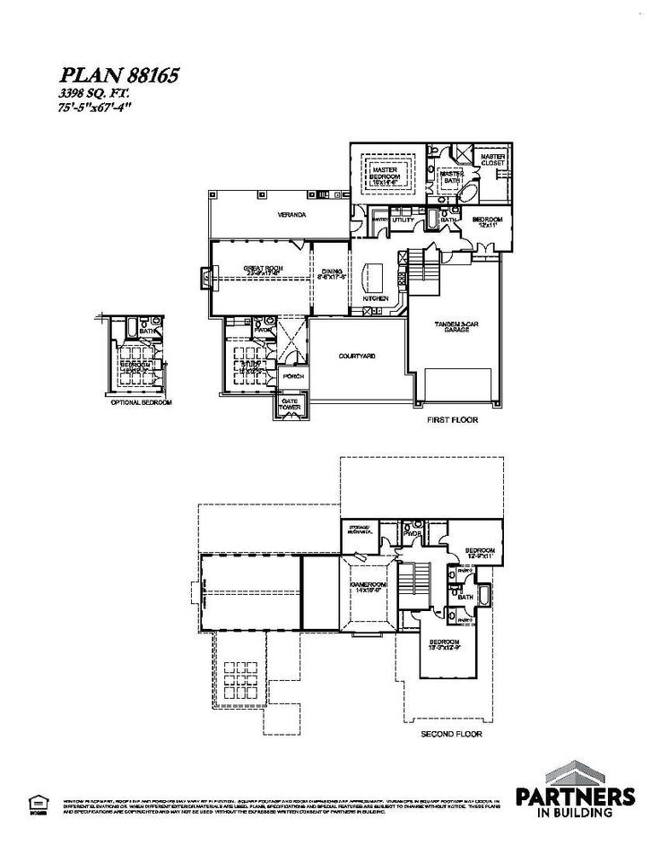 25 best partners in building images on pinterest house floor plans plan 88165 is a 3398 sqe ft 4 bedroom plan built and designed by partners in building custom home builder in texas malvernweather Gallery