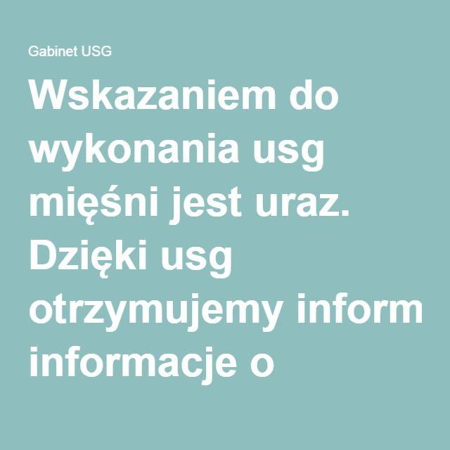 Wskazaniem do wykonania #usg #mięśni jest uraz. Dzięki #usg otrzymujemy informacje o lokalizacji, stopniu i rozległości uszkodzenia poszczególnych części #mięśnia. Możemy również ocenić wielkość i strukturę #krwiaka pourazowego.