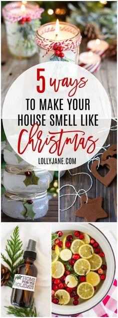 From homemade stovetop potpourri to easy to make candles, these 5 ways to make your house smell like Christmas will get you holiday ready fast! Love these easy tips to get your home smelling like Christmas cheer!