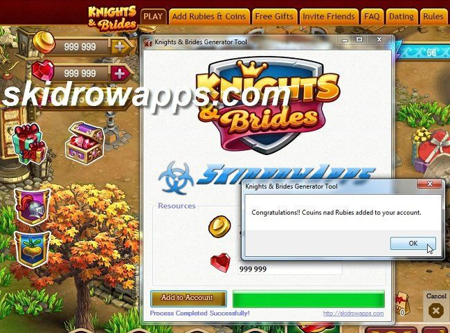 Knights & Brides Hack tool for Coins and Rubies, to have this follow us and…