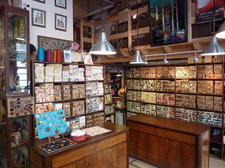 ButtonArtMuseum.com - Ultramod - Haberdashery shop, Paris. Oh, I would love to have a look over there