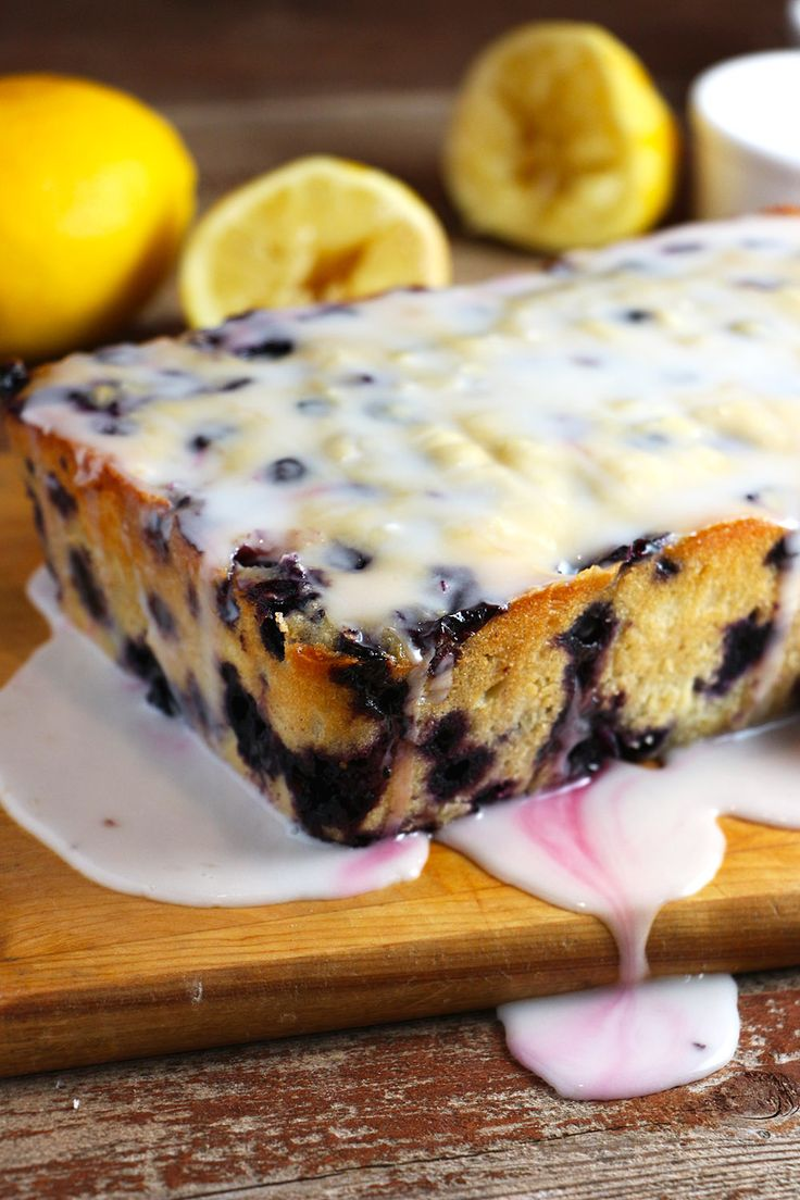 Use up all those seasonal berries with this Lemon-Blueberry Loaf