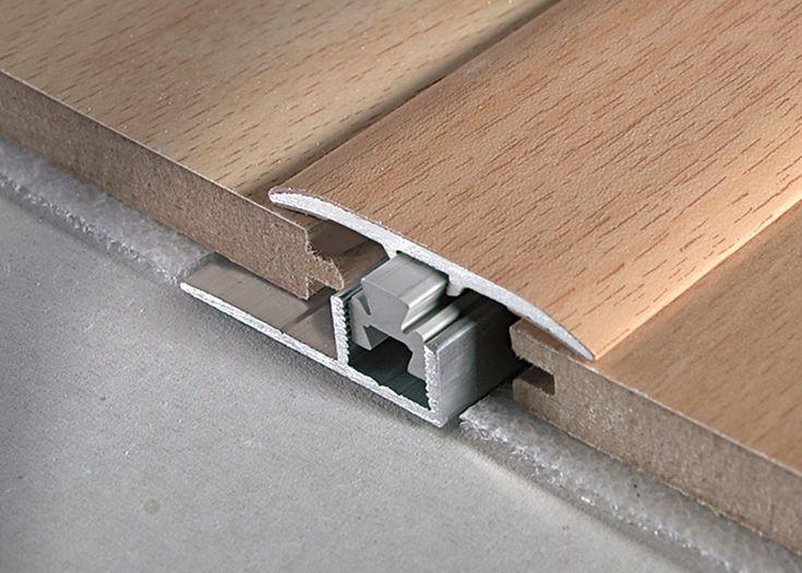Profil de trecere metalic imitatie de lemn cu latime de 3.7cm pentru pardoseli cu inaltimea de pana in 20mm