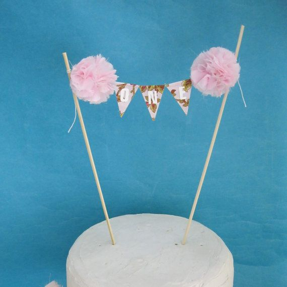 Garden Party cake banner Pink Cake banner smash by Hartranftdesign, $23.00