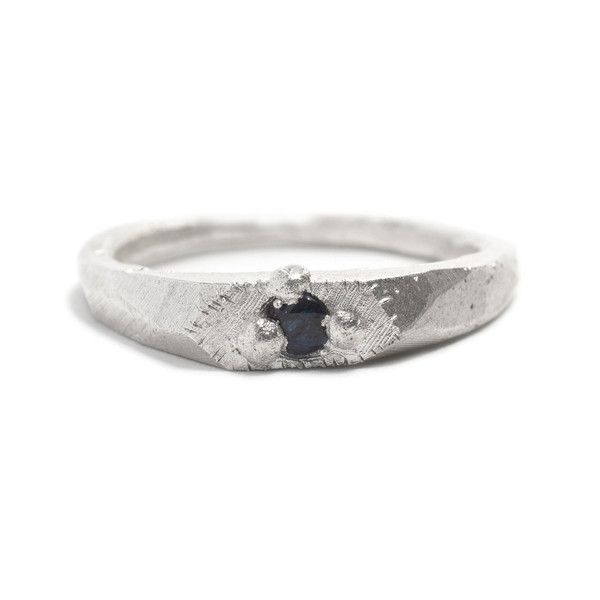 Sterling silver and Australian blue sapphire Peer ring by Pieces of Eight artist, Seb Brown