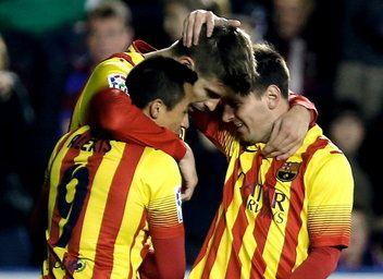 El Barça suma y sigue: 58 jornadas líder. [19.01.14]