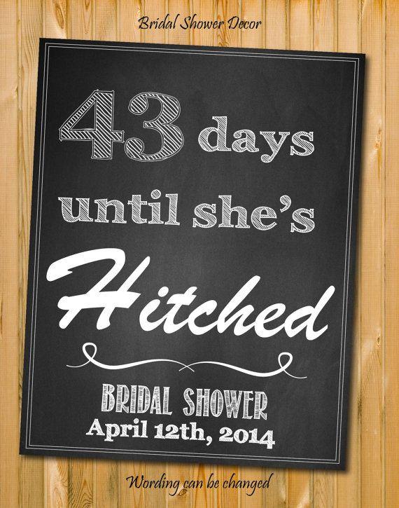 Bridal Shower Decortations, Modern chalkboard style Sign, Bridal shower decor, Bridal shower sign,DIY