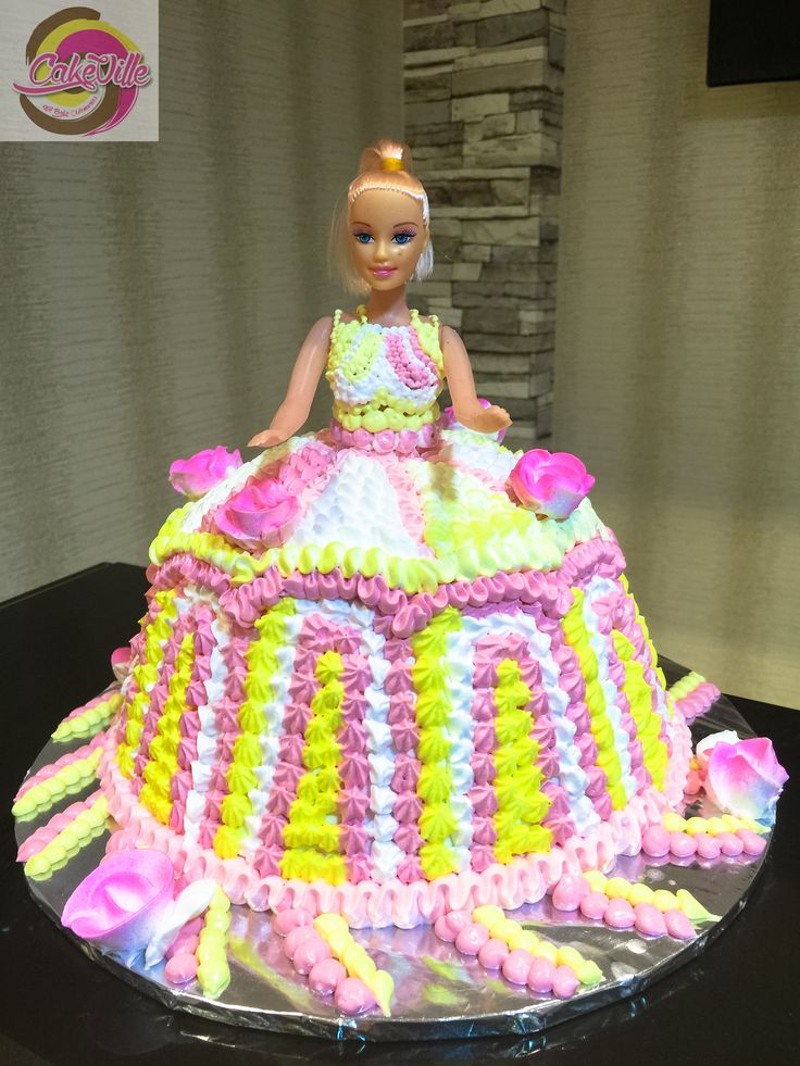 Old School Doll Cake With A Modern Touch :-)