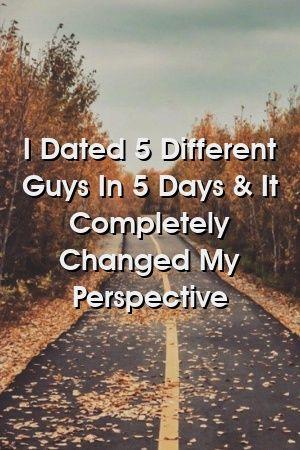 Eu namorei 5 caras diferentes em 5 dias e mudou completamente minha perspectiva   – Relationship Power