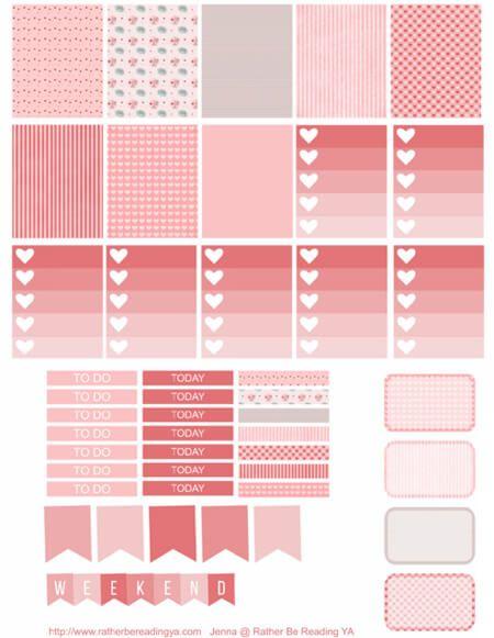 Free Printable Pink Planner Stickers at ratherbereadingya.com
