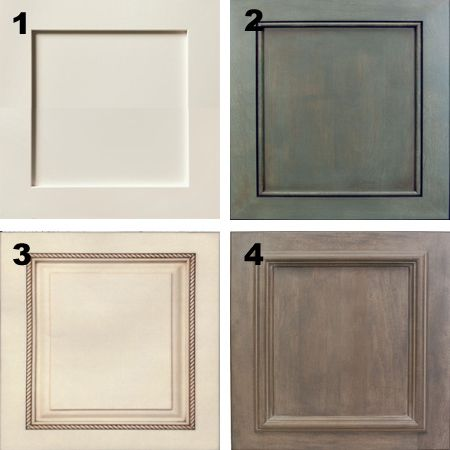 Plain white melamine kitchen goes coastal door trim moulding options