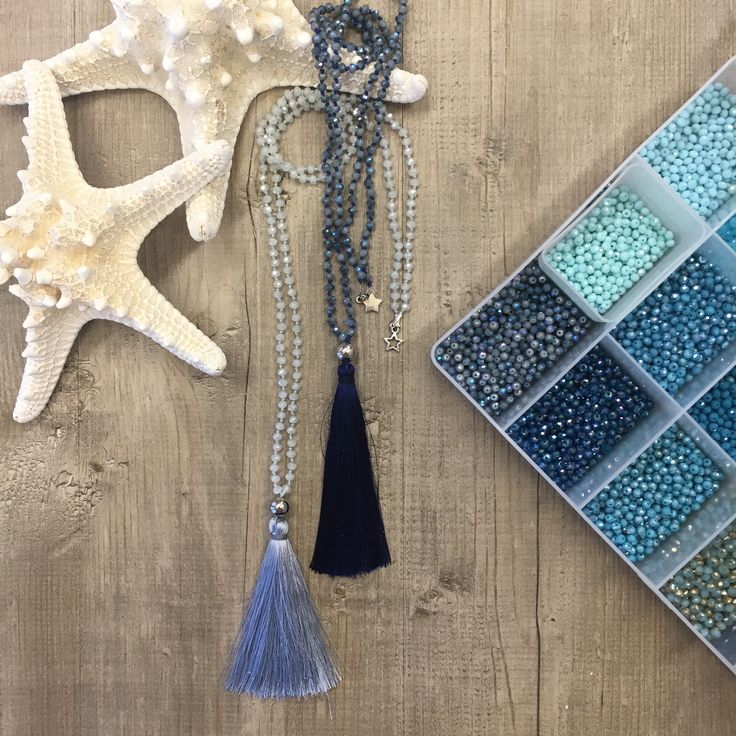 #duepuntihandmade #handmade #handmadejewelry #withlove #love #necklaces #tassels #pearls #colors #sea #seacolors #blue #lightblue #summer #diy #doityourself