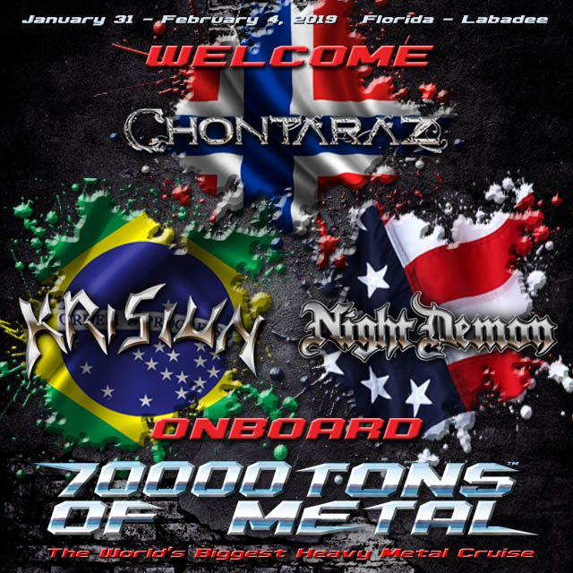 Sailors Please Welcome Three Bands From Three Different Continents Representing Three Different Genres Of Heavy Me Night Of The Demons Death Metal Heavy Metal