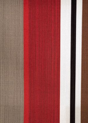 'Byron Red' - a bold stripe of fabric.  Available in   red, blue, green, red terracotta and red.