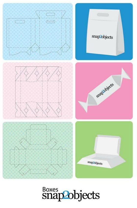 Patrones para cajas de regalo  http://www.snap2objects.com/2012/04/free-merchandising-box-templates/
