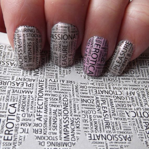 EROTIC Sexy Nail Art Decals SXW SEXY Words Full by NorthofSalem