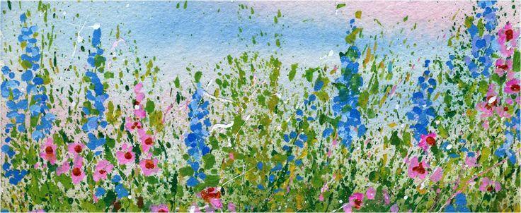 My Flower Journal | Create A Splattered Paint Flower Garden - My Flower Journal   ♥ I'd like this on my garage door.♥