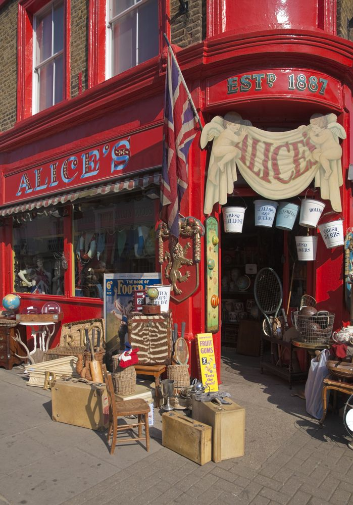 Alice's antique emporium, Portobello Market, London.