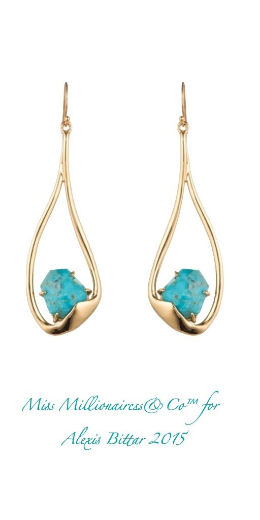 Alexis Bittar Gold and Turquoise Earrings for 2015