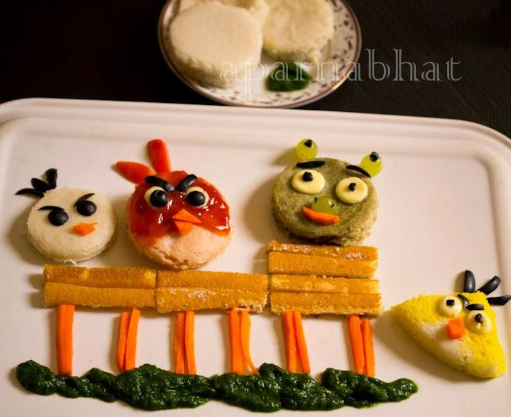 Idlis disguised as Angry Birds