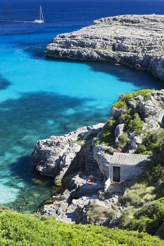 The most amazing sea is in Cala Binidali, Menorca