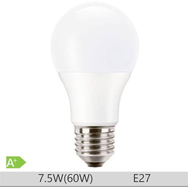 Bec LED PILA 7.5W E27 forma clasica A60, lumina neutra http://www.etbm.ro/becuri-led